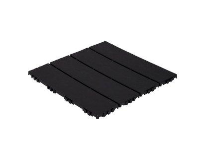 Módní plastová dlažba Hestra v imitaci černého dřeva - zámkový systém