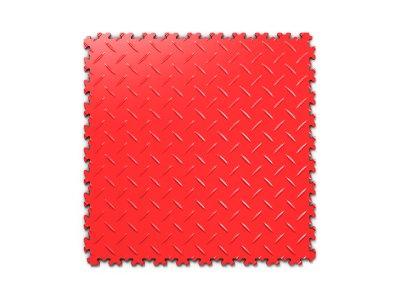 PVC dlažba Mosolut Machine Industry - Diamant, Červená
