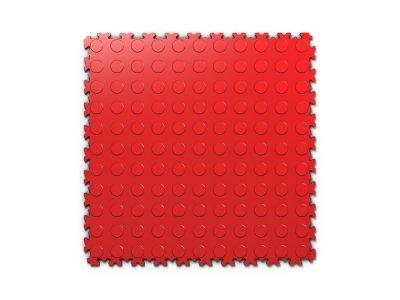 PVC dlažba Mosolut Machine Industry - Mince, Červená