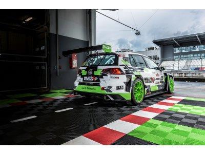 Dlažba Performance Floor Race - Žlutozelená