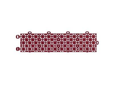 Značkovací podlahová lišta k plastové dlažbě Hestra Universa v červené barvě