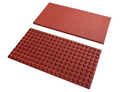 REG Stájová deska vajíčková - červená, v. 55 mm, rastr 23 mm